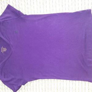 Ralph Lauren Womens Short Sleeve Cotton V-Neck T-S